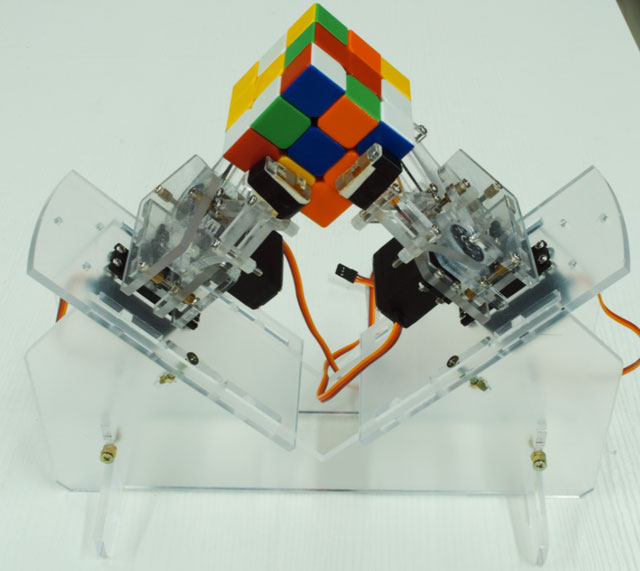 Rubik s cube solver robot with arduino robotic gizmos