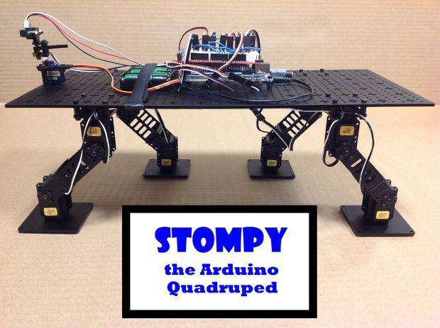 Diy stompy arduino quadruped robot robotic gizmos