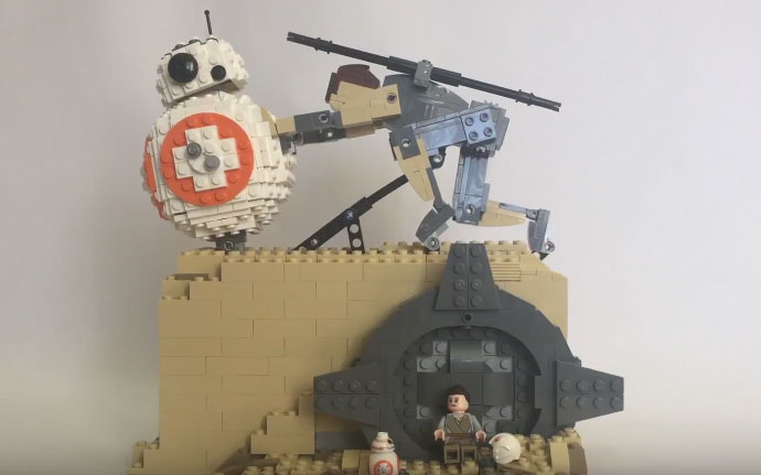 Bb 8 Kinetic Lego Sculpture Inspired By Sisyphus Robotic Gizmos