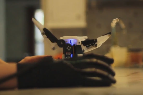 Glove controlled arduino robotic gripper with haptic
