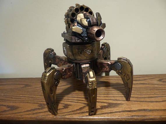Terradrone Steampunk Nerf Robot With Remote Robotic Gizmos
