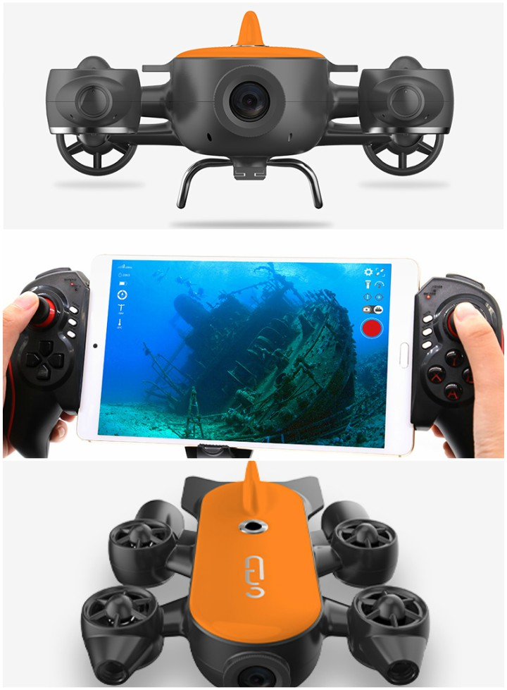 GENEINNO Titan Underwater Drone With 1080p Livestreaming