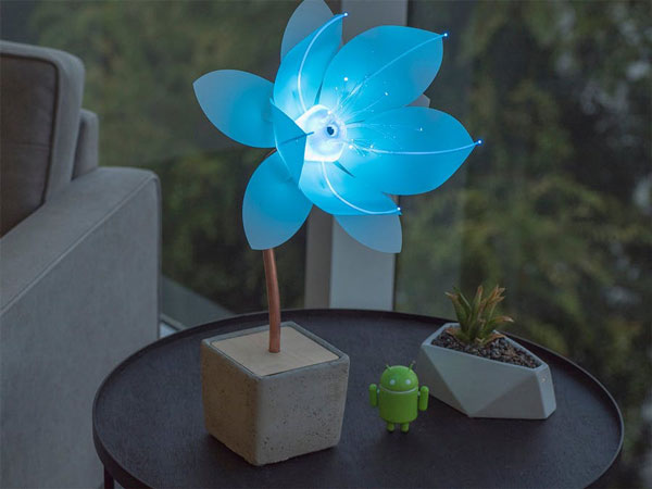 DIY: Android Things Robotic Flower That Reacts To Facial Expressions