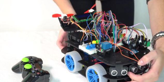 Arduino-based Mars Rover Creator Bot - Robotic Gizmos