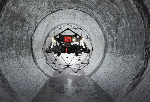 Elios 2 Indoor Inspection Drone with GPS-free Stabilization
