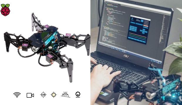 Adeept DarkPaw: Crawling Raspberry Pi Robot with Python Code