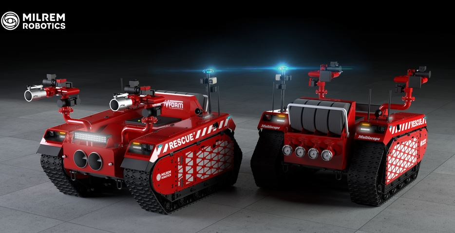 Multiscope Rescue Robotic Firefighter Robotic Gizmos